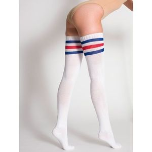 American Apparel Unisex Stripe Thigh High Socks